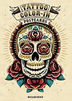 Tattoo Color-In Postcards af Megamunden