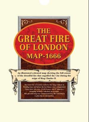 Bog, sampak Great Fire of London Map 1666 af Old House Books