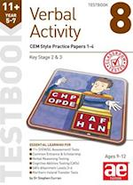 11+ Verbal Activity Year 5-7 Testbook 8: CEM Style Practice Papers 1-4 af Stephen C. Curran