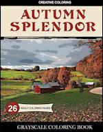 Autumn Splendor Grayscale Coloring Book