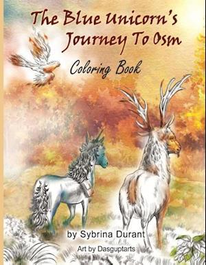 Bog, paperback The Blue Unicorn's Journey to Osm Coloring Book af Sybrina Durant