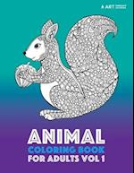 Animal Coloring Book for Adults Vol 1