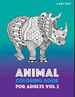 Animal Coloring Book for Adults Vol 2