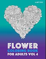 Flower Coloring Book for Adults Vol 4