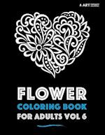 Flower Coloring Book for Adults Vol 6