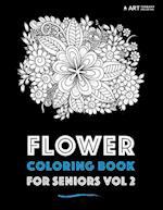 Flower Coloring Book for Seniors Vol 2