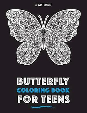 Bog, paperback Butterfly Coloring Book for Teens af Art Therapy Coloring