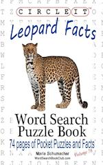 Circle It, Leopard Facts, Word Search, Puzzle Book