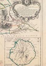 Carnet Blanc, Carte de La Guadeloupe, Le Rouge, 1753 af Le Rouge-G