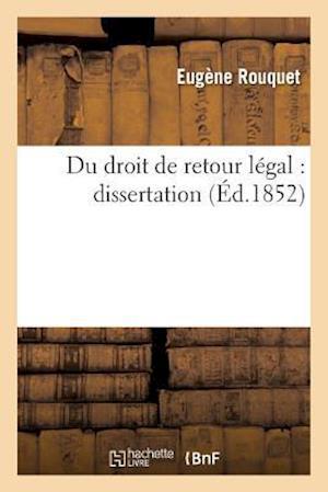 Bog, paperback Du Droit de Retour Legal