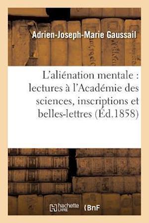 Bog, paperback Etudes Sur L'Alienation Mentale