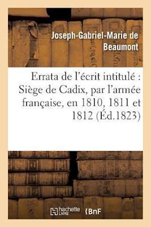 Bog, paperback Errata de L'Ecrit Intitule af De Beaumont-J-G-M