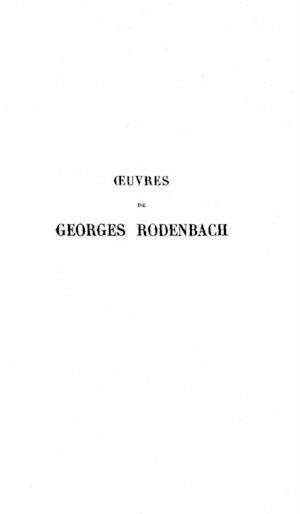 Oeuvre poetique tome 1 af Georges Rodenbach