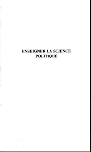 Enseigner la science politique af Favre