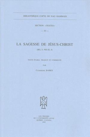 La Sagesse de Jesus-Christ af Andrew Barry, Barry Ac, Catherine Barry