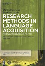 Research Methods in Language Acquisition (Language and the Human Life Span Lhls)
