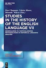 Studies in the History of the English Language VII (TOPICS IN ENGLISH LINGUISTICS, nr. 94)