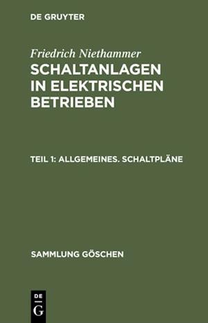 Allgemeines. Schaltplane af Friedrich Niethammer