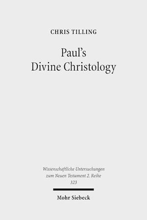 Bog, paperback Paul's Divine Christology af Chris Tilling