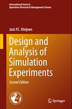 Design and Analysis of Simulation Experiments af Jack P. C. Kleijnen