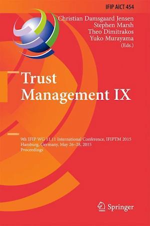 Trust Management IX af Christian Damsgaard Jensen