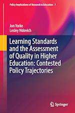 Learning Standards and the Assessment of Quality in Higher Education (Policy Implications of Research in Education, nr. 7)