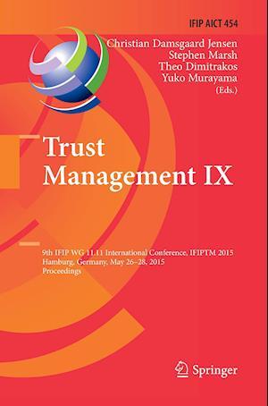 Bog, paperback Trust Management Ix af Christian Damsgaard Jensen