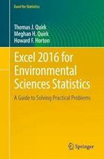 Excel 2016 for Environmental Sciences Statistics (Excel for Statistics)