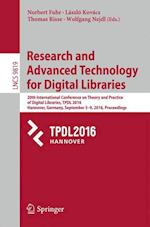 Research and Advanced Technology for Digital Libraries (Lecture Notes in Computer Science, nr. 9819)
