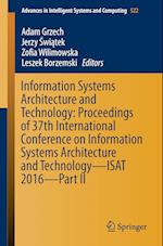 Information Systems Architecture and Technology (Advances in Intelligent Systems and Computing, nr. 522)