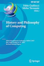 History and Philosophy of Computing (Ifip Advances in Information and Communication Technology, nr. 487)