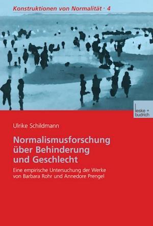 Normalismusforschung uber Behinderung und Geschlecht af Ulrike Schildmann