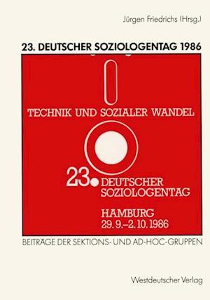 23. Deutscher Soziologentag 1986 af Jurgen Friedrichs