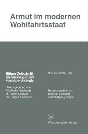 Armut im modernen Wohlfahrtsstaat af Stephan Leibfried, Wolfgang Voges