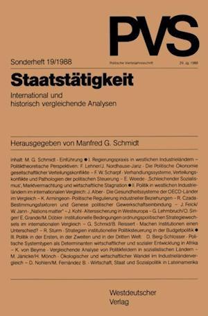 Staatstatigkeit af Manfred G. Schmidt