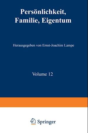 Personlichkeit, Familie, Eigentum af Ernst-Joachim Lampe