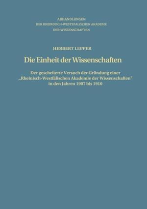 Die Einheit der Wissenschaften af Herbert Lepper