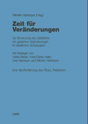 Zeit fur Veranderungen af Volker Briese, Wilhelm Heitmeyer