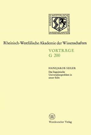 Das linguistische Universalienproblem in neuer Sicht af Hansjakob Seiler