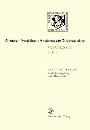 Das Mehrheitsprinzip in der Demokratie af Ulrich Scheuner