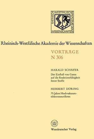 Der Einflu von Gasen auf die Reaktionsfahigkeit fester Stoffe af Harald Schafer