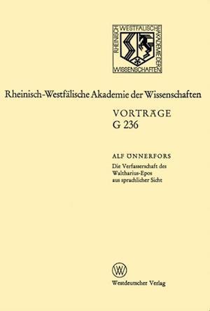 Die Verfasserschaft des Waltharius-Epos aus sprachlicher Sicht af Alf Onnerfors
