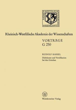 Dichtkunst und Versifikation bei den Griechen af Rudolf Kassel