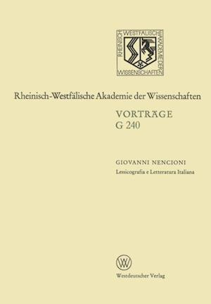 Lessicografia e Letteratura Italiana af Giovanni Nencioni