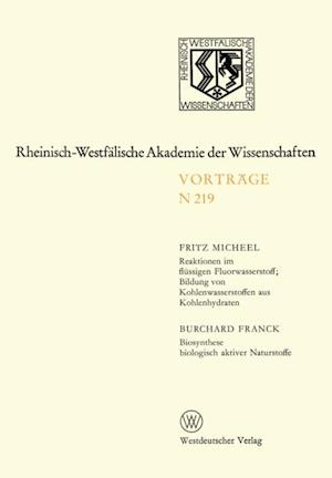 Natur-, Ingenieur- und Wirtschaftswissenschaften af Fritz Micheel