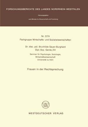 Frauen in der Rechtsprechung af Brunhilde Sauer-Burghard