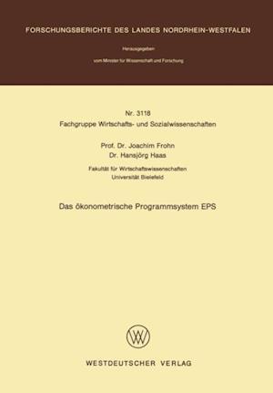 Das okonometrische Programmsystem EPS af Joachim Frohn