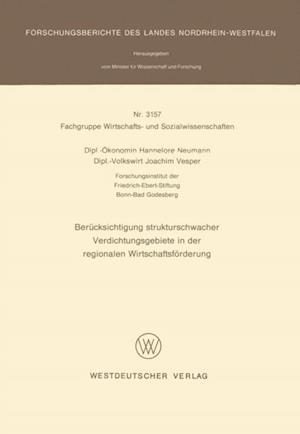 Berucksichtigung strukturschwacher Verdichtungsgebiete in der regionalen Wirtschaftsforderung af Hannelore Neumann