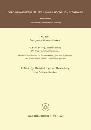 Erfassung, Beurteilung und Bewertung von Deckschichten af Werner Leins