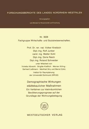 Demographische Wirkungen stadtebaulicher Manahmen af Volker Kreibich